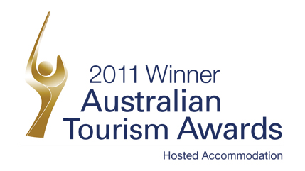 Qantas National Tourism Award Winner - Hosted Accommodation