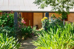 Seppeltsfield Vineyard Cottage luxury Barossa vineyard accommodation - cottage garden