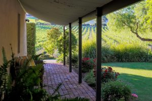Seppeltsfield Vineyard Cottage - luxury Barossa accommodation verandah overlooking the vineyards